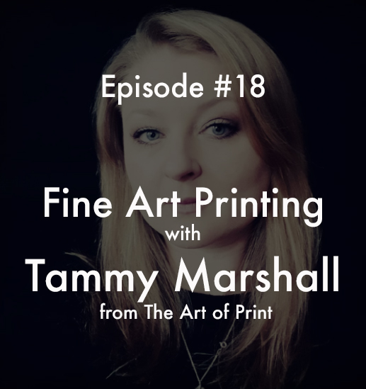 Unsung Art Podcast printing with tammy